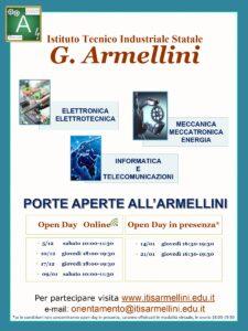 ITIS Armellini Locandina 20-21